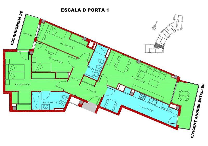 ESCALERA D – PUERTA 1